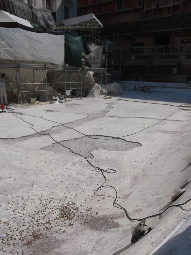 Efecto de las condiciones meteorológicas sobre la fontana de Trevi